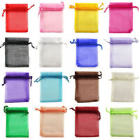 50Pcs Organza Candy Bags Wedding Party Favor Gift Jewelry Pouch Sheer Decoration