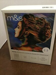 M&S N65RS Indoor Music & Intercom Speaker W/Remote Scan White Color Finish NOS