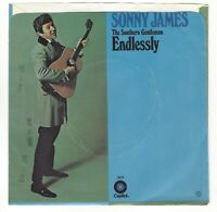 "SONNY JAMES Rare DJ promo 45 ""Endlessly"" ""Happy Memories"" 1971 Picture sleeve"
