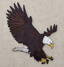 Iron On Embroidered Applique Patch Patriotic American Bald Eagle Landing LARGE
