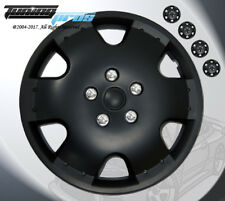 """16"""" Inch Matte Black Hubcap Wheel Cover Rim Covers 4pc, Style Code 720 16 Inches"""