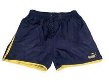 "Vintage Puma Shiny Nylon Shorts Glanz Ibiza Running Size 26"" Waist 66cm XS"