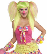 Lollipop Lily Clown Circus Pigtails Green Women Costume Wig