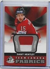 DANY HEATLEY 2012-13 SP GAME USED TEAM CANADA FABRICS 2 COLOR GAME USED PATCH