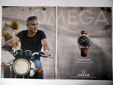 PUBLICITE-ADVERTISING :  OMEGA Speedmaster [2pages] 2015 George Clooney,Moto