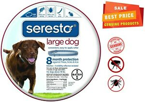Seresto 8 Month Flea & Tick Prevention Collar for Large Dogs, Free Shipping