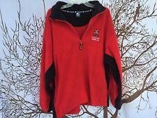 🔥Starter Brand NCAA Red Fleece Pullover Half Zip UNLV Las Vegas University XL🔥