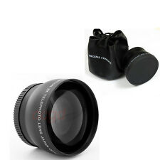 43mm 2x Telephoto Lens + case  for Canon EOS M EF-M 22mm F2 STM Camera