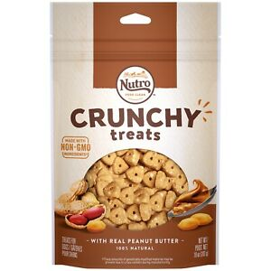 Nutro Crunchy Treats With Real Peanut Butter 10 oz