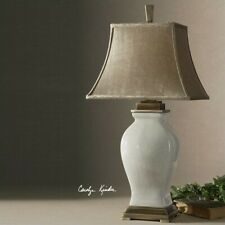 Uttermost Rory Porcelain Table Lamp in Crackled Aged Ivory Glaze