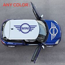 set WINGS MINI COOPER Vinyl Roof Decals Graphic S JCW DIE CUT STICKERS DECAL NEW