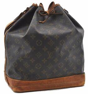 Authentic Louis Vuitton Monogram Noe Shoulder Bag M42224 LV D3669
