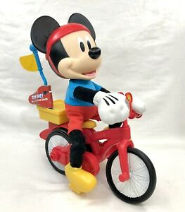 Disney Mickey Mouse Riding Bike SILLY WHEELIE Interactive Talking Motion Toy