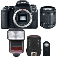 Canon EOS 77D 24.2MP DSLR Camera with 18-55mm Lens , TTL Flash and Accessory Kit