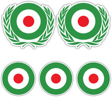 SCOOTER MOD ITALY ROUNDEL Laminated Sticker Set vespa Retro Italian Decal 2