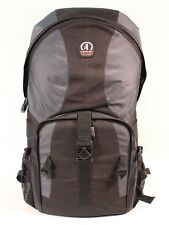 NICE LARGE GREY & BLACK TAMRAC CAMERA BACKPACK W/TOP & BOTTOM COMPARTMENTS.