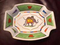 Lynn Chase Designs Tiger Raj 24K Gold Octagonal Tray Relish Olive Dish