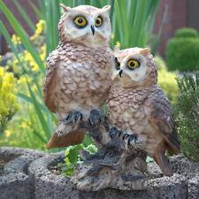 Dekofigur Eule Eulen Familie Deko Gartenfigur Kauz Uhu Garten Dekoration