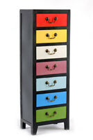 Tallboy Chest of Drawers Tall Storage Cabinet Slim Hallway Kitchen Bedroom Unit
