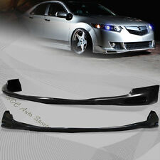 For 2009-2010 Acura TSX Black Polyurethane Front Lower Bumper Spoiler Lip Kit