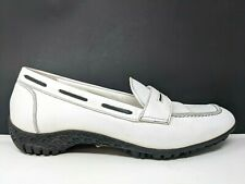 Walter Geniun Penny White Black Loafer Style Golf Shoes Womens Size 36.5 US 6.5
