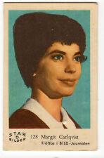 1950s Swedish Film Star Card Star Bilder D #128 vamp actress Margit Carlqvist