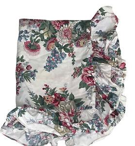 Ralph Lauren Allison Floral Cottage Rose Ruffled Pillow Sham Standard Size