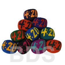 420 Stripes Guatemalan FootBag Mixed Colors Hacky Sack New Foot Bag HS4