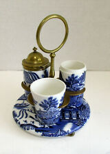 Blue Willow  Cruet Set