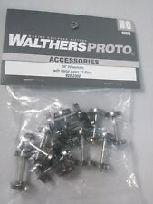 """Walthers #2302 HO Scale Metal Wheel Sets - 36"""" Wheels and Axles 12-Pack New"""