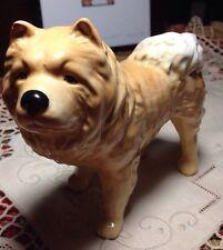Vintage Dog figurine Chow Chow (?) Bone China England -