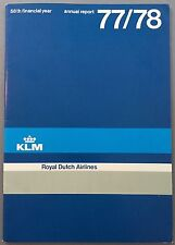 KLM ROYAL DUTCH AIRLINES ANNUAL REPORT 1977-78 ENGLISH LANGUAGE ROUTE MAP
