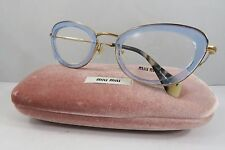 Miu Miu VMU 52N TWI-1O1 Blue/Gold/Havana New Women Eyeglasses 51mm w/Case