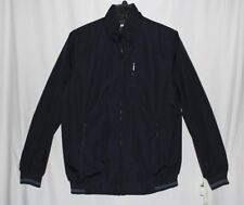 New Perry Ellis Solid Navy Men's Size Large Tall Full Zip Poly Bonded Jacket