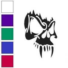 Vampire Skull Tribal Decal Sticker Choose Color + Size #715