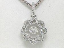 Brillant Anhänger 585 Weißgold 14Kt Gold dancing diamond total 0,50ct