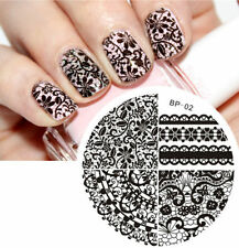 Nail Art Stamping Plates Chic Lace Image Stamp Template Manicure #02 Born Pretty
