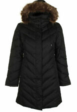 NEW - KENNETH COLE Women's CLASSIC Black FAUX FUR TRIM PUFFER JACKET - 2X