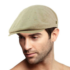 Men's 100% Cotton 7 Panel Ivy Mixed Pattern Driver Cabby Flat Cap Hat