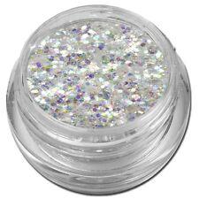 Mix Glitter Glitzer Puder Nailart Pailetten toller Effekt Weiß #00539-02