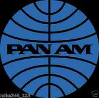 Pan Am PAN AMERICAN AIRLINES Decal Sticker XXL! MINT!