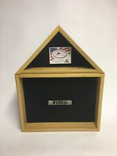 Military Flag & Medal Shadow Box Display Case 3 x 5 Flag (Wisconsin Made) #1070