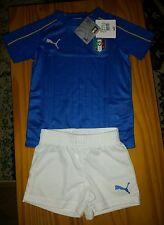 Puma ITALIA FOOTBALL KIT 3-4 ANNI NUOVO CON ETICHETTA Camicia + shorts 2015-2016