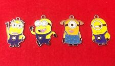 "4 Different ""Despicable Me MINION"" Enamel Charms - ""Make Your Own Jewellery"""