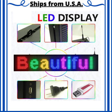 Scrolling Programmable Led Sign Outdoor Full Color Display Text Messages Board