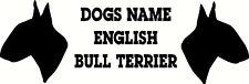 Personnalisée english bull terrier silhouette wlla autocollant, elevage, amoureux des chiens 3a