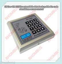 1K User EM 125Khz extendable data backupable Pin code standalone access control