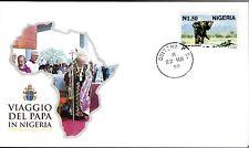 549- FDC VATICAN VISITE PAPE JEAN PAUL II   AU  NIGERIA