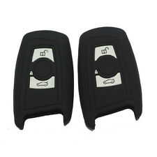 2x Black key fob case cover for BMW 1 2 3 5 7 SERIES F10 F20 F30 335 2 buttons