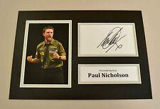 Paul Nicholson Signed A4 Photo Display Genuine Darts Memorabilia Autograph + COA